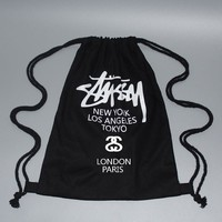 On Sale College Stylish Comfort Casual Back To School Hot Deal Canvas With Pocket Korean Black Backpack [10687484359]