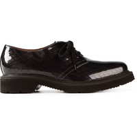 Giorgio Armani shiny quilted lace-up shoes