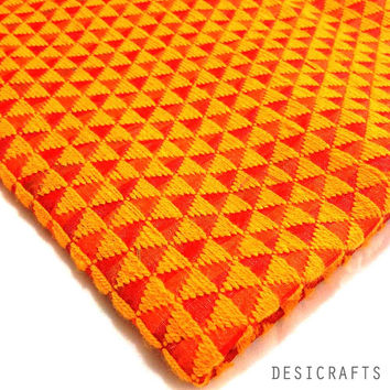 Orange and Red Hand Embroidered Phulkari