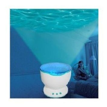 DUSIEC chromatic Ocean Waves Projector Lamp Projection / Romantic Christmas Gift LED Light Relaxing Ocean Project Pot