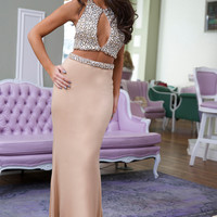 Nude Two-Piece Gown 24286 - Prom Dresses