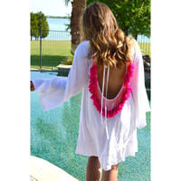 Indiana Dress- White/Pink- FINAL SALE