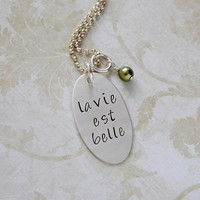 La Vie Est Belle French Life is Beautiful by GracieAndMeDesign