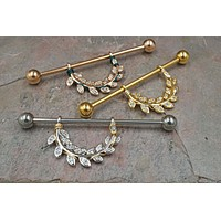 Botanical Leaf Industrial Barbell Hanger