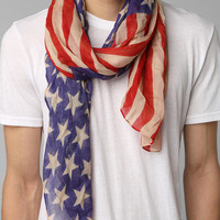 Urban Outfitters - Lightweight Stars & Stripes Scarf