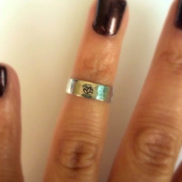 Lotus Above the Knuckle or Pinkie Ring / Stackable Ring / Adjustable Ring /  Tiny Lotus