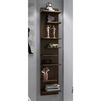 Captivating Nelson Floating Shelf Panel with 8 Shelves in Tobacco