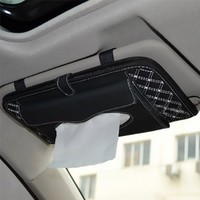 Tinksky Double-Deck Auto Car Visor CD/DVD Bag Storage Holder Interior Decoration Products Automotive Tissue Box(White and Black):Amazon:Home Improvement