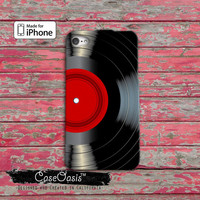Vinyl Record Red Label Music Classic Vintage Album iPhone 4 Case and iPhone 5/5s/5c Case and iPhone 6, 6 Plus, 6s, 6s Plus + Wallet Case