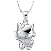 Hello Kitty Flower Crystal Necklace