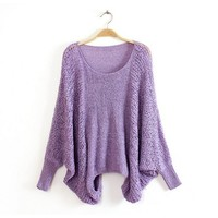 ZLYC Oversized Relaxed Fit Sweater for Girls