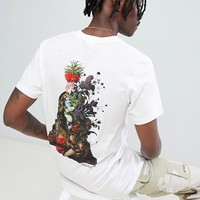 RIPNDIP t-shirt with bouquet back print in white at asos.com