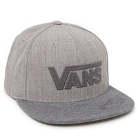 Vans Drop V Plus Snapback Hat - Mens Backpack - Grey - One