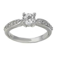 Sterling Silver CZ Engagement Ring size 5-9