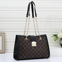 Louis Vuitton LV Women Fashion Leather Chain Satchel Crossbody Shoulder Bag