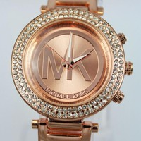 MK Trending Women Men Watchcase Diamond Watch Wrist Rose Gold I-YF-GZYFBY