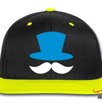 top hat and enormous moustache ringmaster Snapback
