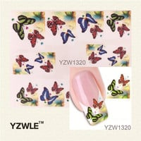 YZWLE Nail Art Water Transfer Sticker NEW DIY Nail Beauty Decals Nail Art Decorations