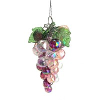 Iridescent Beaded Grape Cluster Christmas Tree Ornament, 3-1/2-Inch, 1-Piece