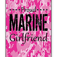 Premium Pink Camo Marine Military Girlfriend Camouflage Direct UV Printed Iphone 5, 5s Quality TPU SOFT RUBBER Snap On Case for Iphone 5 - AT&T Sprint Verizon - White Case
