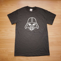 RETRO 8bit Darth vader Star Wars Sci-Fi Fanboy & Gamers pixel t-shirt (Black) SML
