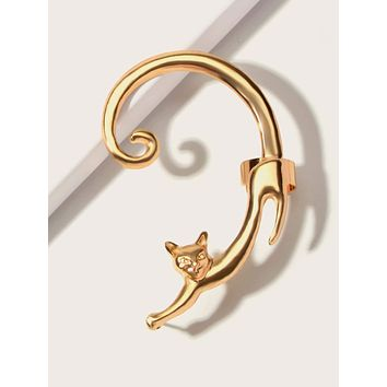 1pc Cat Design Ear Cuff