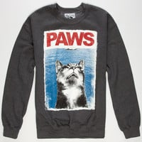 Riot Society Paws Mens Sweatshirt Charcoal  In Sizes