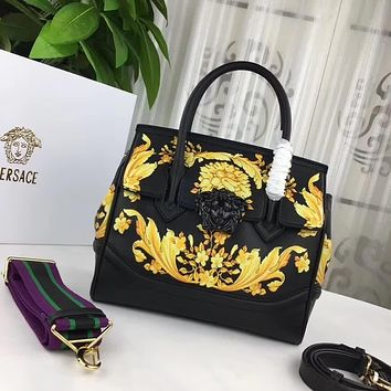 VERSACE WOMEN'S FASHION SHOW LEATHER HANDBAG SHOULDER BAG