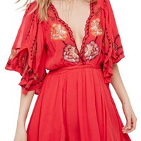 Free People Cora Embroidered Minidress | Nordstrom