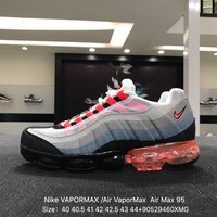 Nike Air Max 95 Neonââ'?VAPOR MAX Gray Red Sports Running Shoes Sneaker