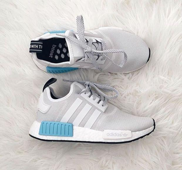 """Image of """"ADIDAS"""" Women Running Sport Casual NMD Shoes Sneakers Blue-White F"""