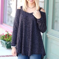 Shoulder Shimmy Cold Shoulder Sweater {Oreo}