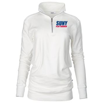 Official NCAA SUNY Plattsburg - 53sp Unisex 1/4 Zip Up Fleece Pullover