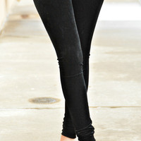 Natural Life Velvet Leggings - Black
