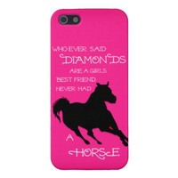A Horse is a Girl's Best Friend Hot PINK IPHONE iPhone 5 Case
