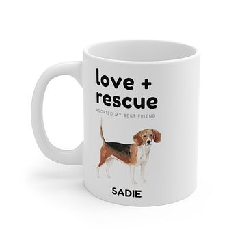 love + rescue Mug — Beagle