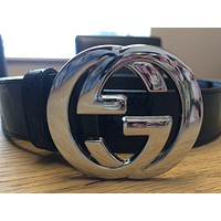 GG Belt Silver Buckle 34-38""