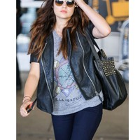 McFadin Saratoga bag in black as seen on Lucy Hale