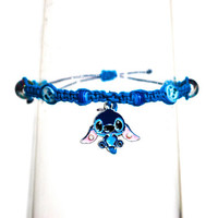 Disney's Stitch Pendant Beaded Hemp Bracelet