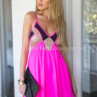 Lincoln 2.0 Dress (Hot Pink)
