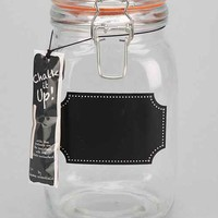 Tall Chalkboard Label Canister- Clear One