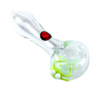 Dynomite Glass - MID SIZED CLEAR BONE W/ FRIT BOWL & CRITTER