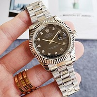 Rolex classic luxury men's and women's fashion steel band watches