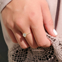 Have It Your Way Circle Rhinestone Studded Ring