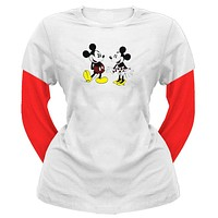 Mickey Mouse - With Minnie Juniors 2Fer Long Sleeve T-Shirt