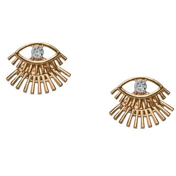 Bat Your Lashes Gold Earrings