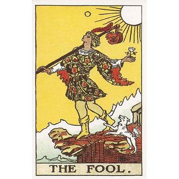 The Fool Tarot Card Poster 11x17