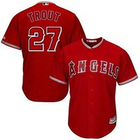 Mike Trout Los Angeles Angeles Anaheim Red MLB Kids Alternate Replica Jersey