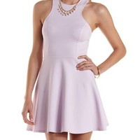 Cross-Back Racer Front Skater Dress by Charlotte Russe
