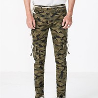 D-Ring Vintage Camo Cargo Jeans